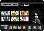Pokemon Light Version- Dark's Trainer Card by DarknessGaVeMEWINGS6