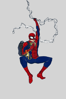 Eating on the fly - Spiderman by AquiterCorona