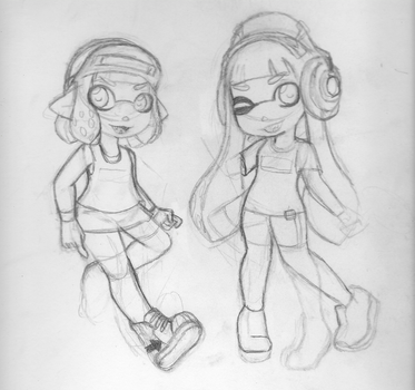 Splatoon 1 and 2 Inkling Girls Wip by starcloudnebula