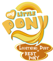 MLP. My Little Pony Logo - Lightning Dust by jamescorck