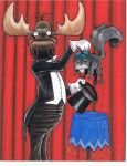 Rocky and Bullwinkle by LabrenzInk