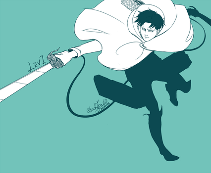 Attack On Titan - Levi by blackteakimi