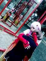 Inori hugs Shu - Guilty Crown Cosplay by K-I-M-I