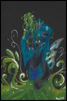 Queen Chrysalis. by Ayudrawpony