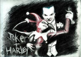 Joker and Harley by lunafilia