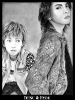 Tetsu and Hyde by weezie