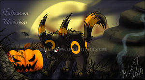 ::Halloween Umbreon:: by Sakusasu88