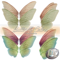 Butterfly Colors Transparents PSD by Maryneim