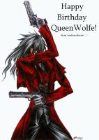 Happy Birthday QueenWolfe by vendixnosferatu