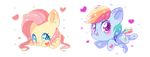 Fluttershy and Rainbow Dash by Ipun