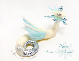 Nives, Snow Spirit Dragon by rosepeonie