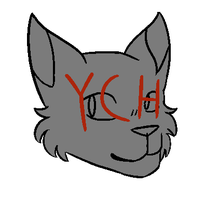 Cat Head YCH OPEN by minrew12adopts