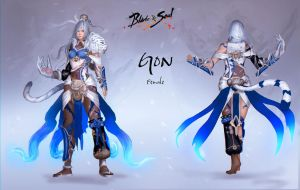 Blade and Soul costume design (Gon-Female) by ArisT0te
