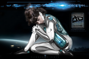 Cyborg Girl by 35-Elissandro