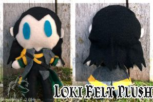 Loki Felt Plush by WindWo1f