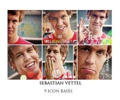 Sebastian Vettel 9 icon bases by glamorousdesigns