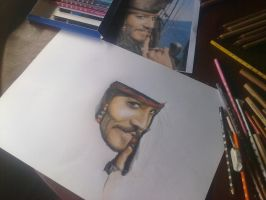 Jack Sparrow proceso by AileonArts