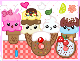 Ice Cream And Dough Nut Family by robloxlittle