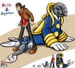 Digimon Re-Contest Entry--Seth and Buglemon by cupil