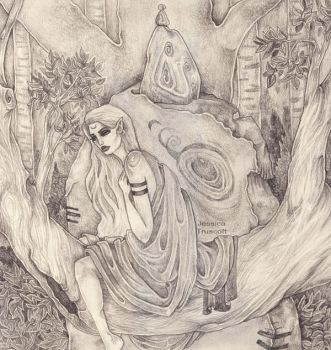 fae in a tree by away-with-the-fae