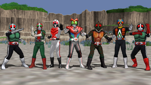 MMD - Legendary Seven Riders by Zeltrax987