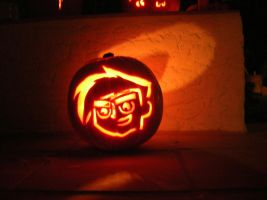 Danny Phantom Pumpkin by Darth-Frodo