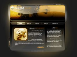 Glamour Design Web Site by caglarsasmaz