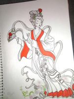 Traditional geisha by rogueissweet