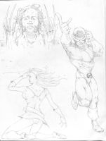 X-Men sketches by NathanKroll