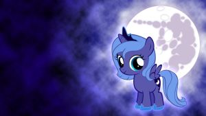 Filly Luna Wallpaper by Pappkarton