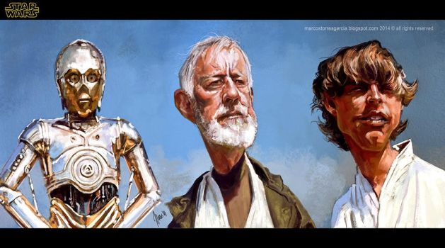 Star wars Obi-wan and friends... by jupa1128