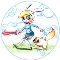 AT: Fionna and Cake by Maryloza