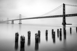 Bay Bridge in BW by porbital