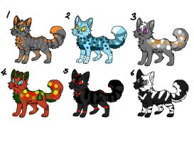 Free Adopts! - Batch #1 [OPEN] by FoxtailxRavenfeather