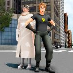Dr Horrible and Captain Hammer by bufffycat