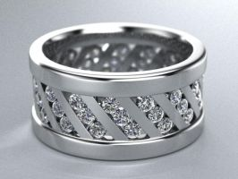 mens 10mm 1.25ct band by lupusk9