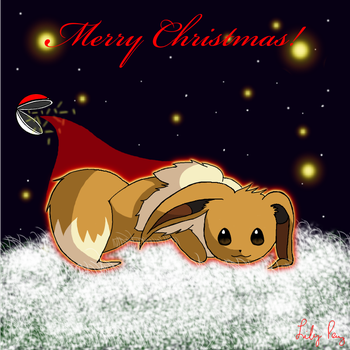 Merry Christmas from Eevee by Pyrolila