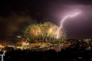 Fireworks Of Man And Nature 2 by NinjaSqurl