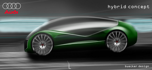 audi hybrid concept by p-sketch