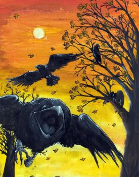OMFG THE CROWS by Anarchpeace