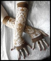 Namaste Ji Long Arm Warmers by ZenAndCoffee
