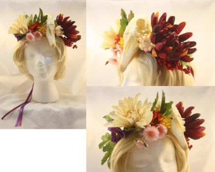 Goose Skull Flower Crown by One-Eyed-Kitty