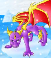 Spyro on an ice floe by trencik