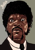 Jules Winnfield - Pulp Fiction by Obrzut