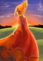 Flame Princess by NadzEscapade