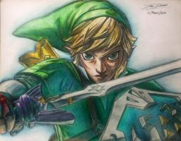Link - Skyward Stance by XReithyemX