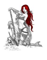 Daily Sketch: Red Sonja by YBourykina