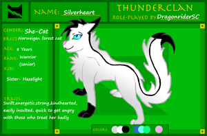 Silverheart Ref Sheet by DragonriderSC