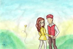 Claire and Professor Layton by SpeedLimit-Infinity