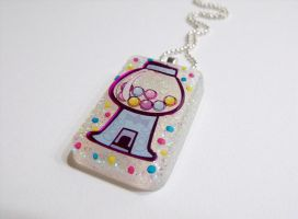 Gumball machine pendent by 2littleKisses